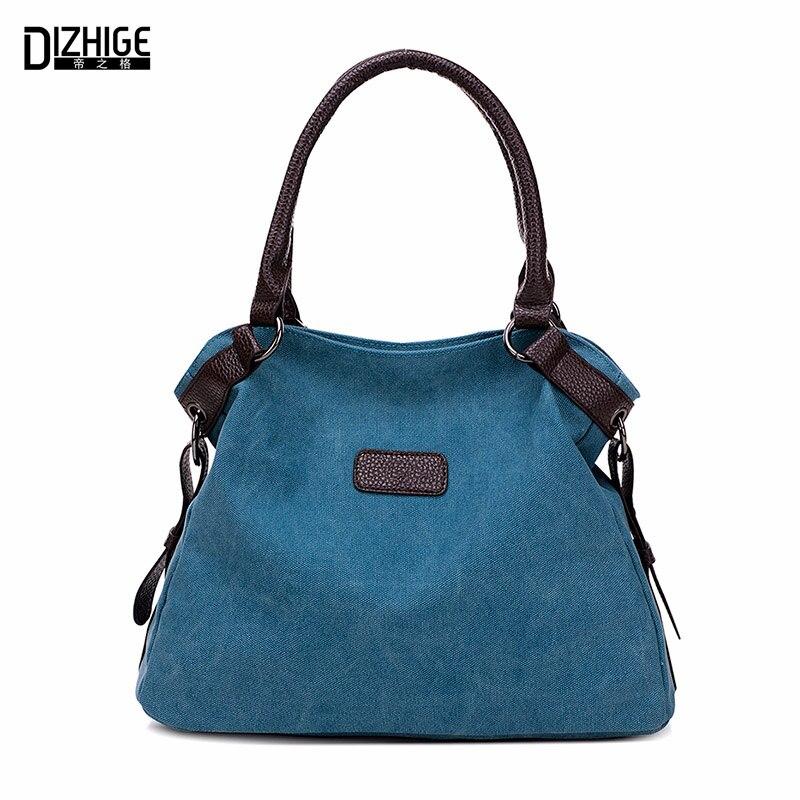 Bolsa de lona de la vendimia mujeres bolsos de diseño de alta calidad bolso de mano de las señoras de hombro bolsos SAC a mujer principal de marque 2016