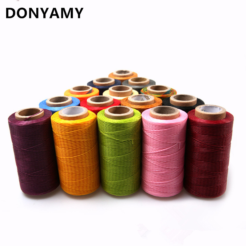 DONYAMY 150D Leather <font><b>Sewing</b></font> Wax Thread Hand Stitching Cord Craft DIY Leather Tools <font><b>Sewing</b></font> Craft Leather Special Flat Waxed line