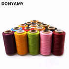 DONYAMY 150D Leather Sewing Wax Thread Hand Stitching Cord Craft DIY Leather Tools Sewing Craft Leather Special Flat Waxed line