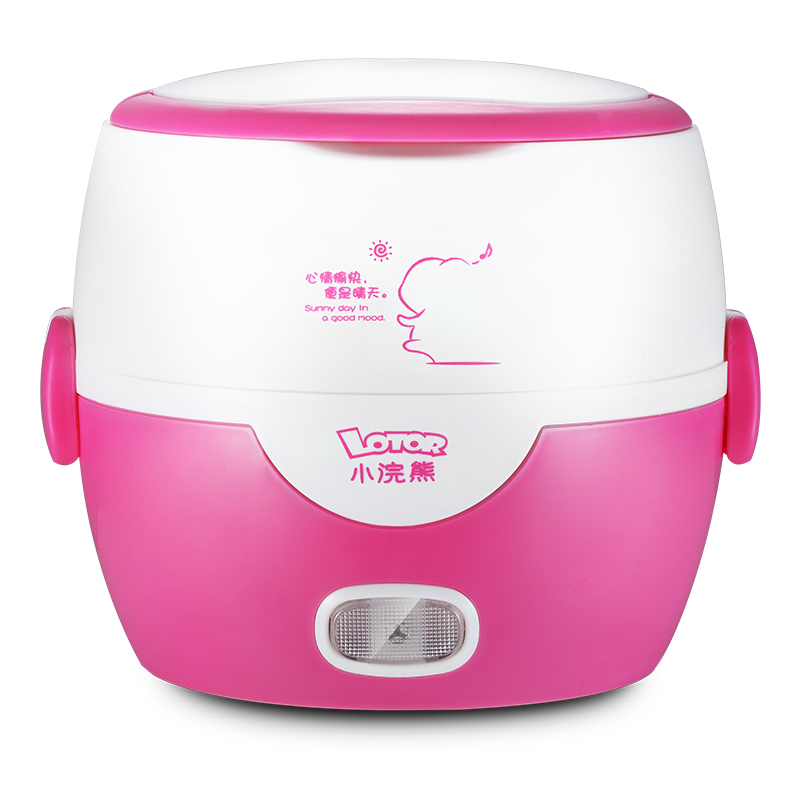 Lotor Electric Heated Lunch Box Stainless Steel 1.3L 2 Layers Insulation Portable Mini Rice Cooker Automatic Heating indutrial rice cooker parts rice cooking machine u shape stainless steel heating tube 380 voltage 4kw