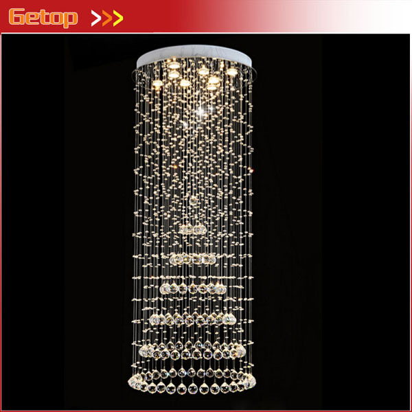 Best Price Modern Duplex Villa Living Room K9 Crystal Chandelier Stair Lamp Luxury Long Droplight Engineering Lamps Hotel Club best price modern led spherical k9 crystal lamp duplex stairs luxury villa round ball crystal pendant lights project lights