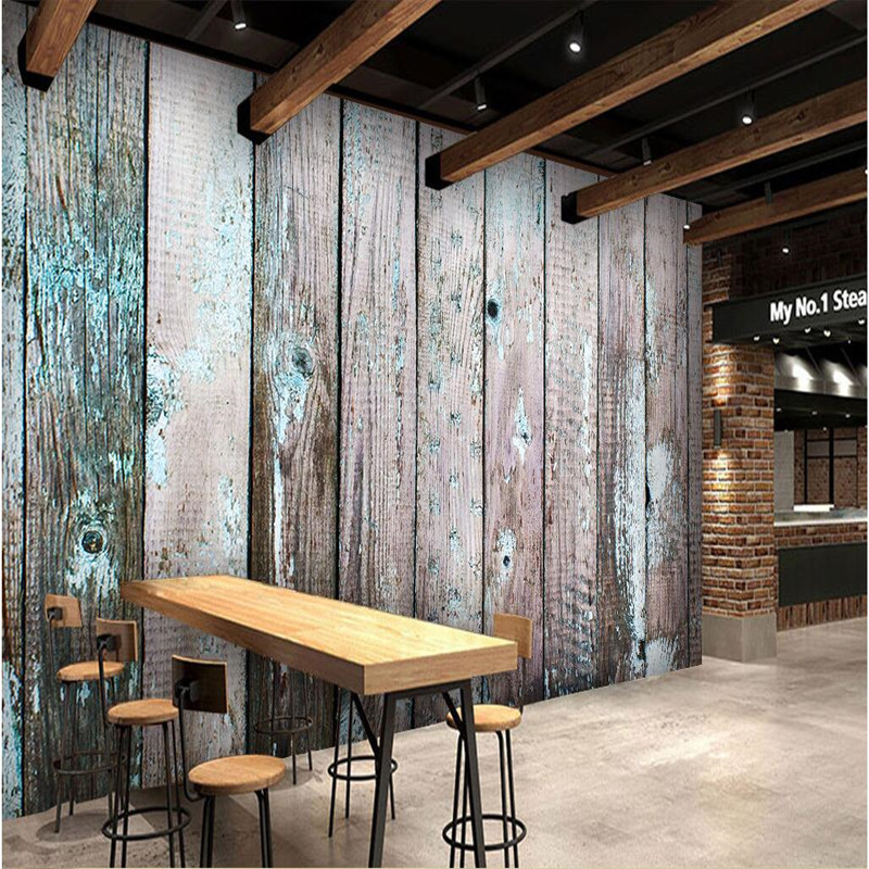 Modern Mural of Home Decor Custom Any Size Large Wallpaper for Living Room Old Wood Paint Off Wall Art Photography Wall Painting