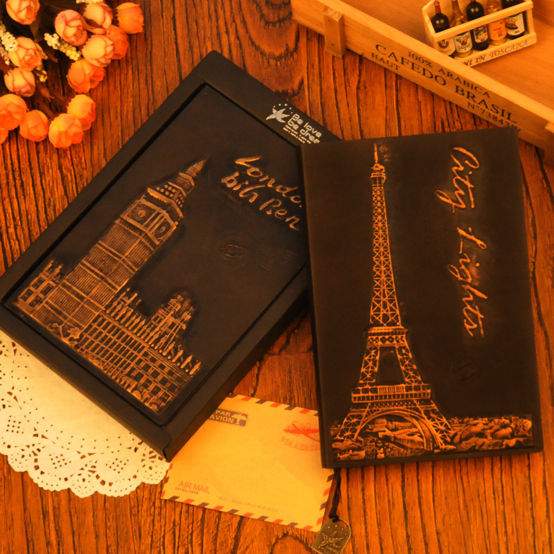 2017 Classic Hardcover Notebook Lock Continental Retro Traveler Notebook Journal Leather Cover School office stationery supplie sosw fashion anime theme death note cosplay notebook new school large writing journal 20 5cm 14 5cm