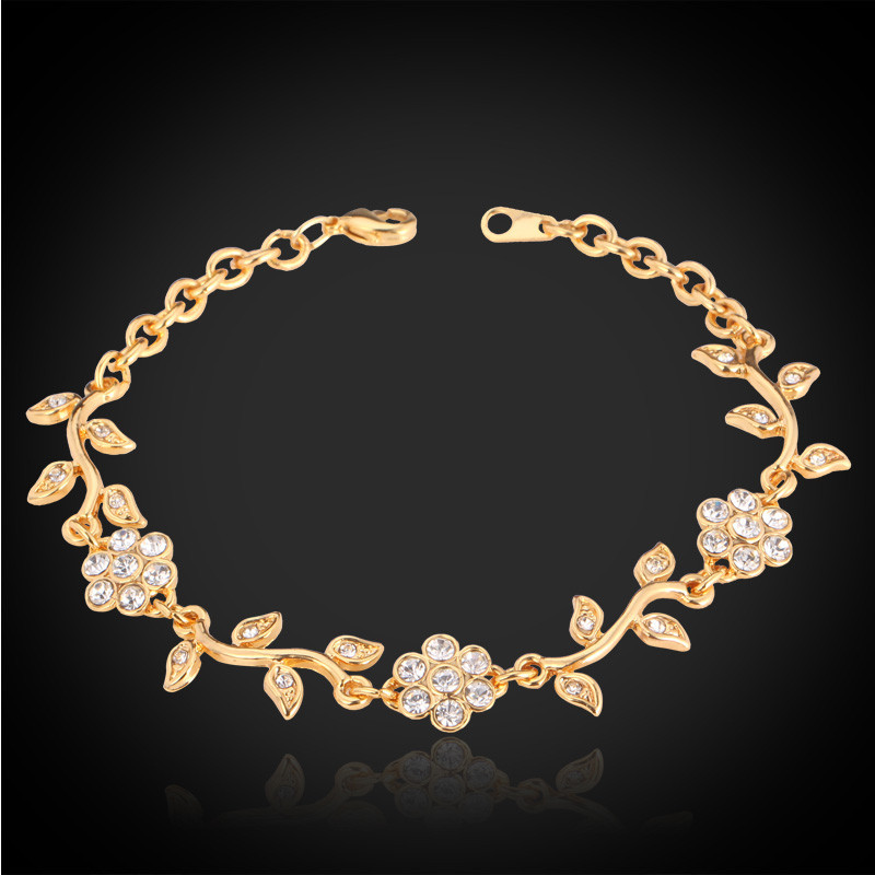 Fashion Jewelry French Romantic Golden Bracelet For Women Yellow ...