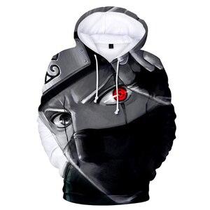 Image 2 - Толстовка с 3D принтом японского аниме Наруто Акацуки красное облако Толстовка для мужчин и женщин толстовка с капюшоном зимний модный Повседневный Спортивный костюм крутые Топы