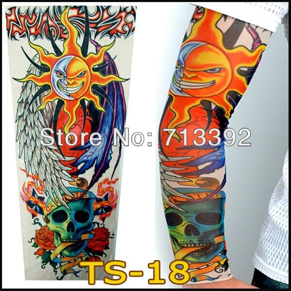 ᗗMezclado 6 unids tatuaje mangas brazo Calentadores para piernas al ...
