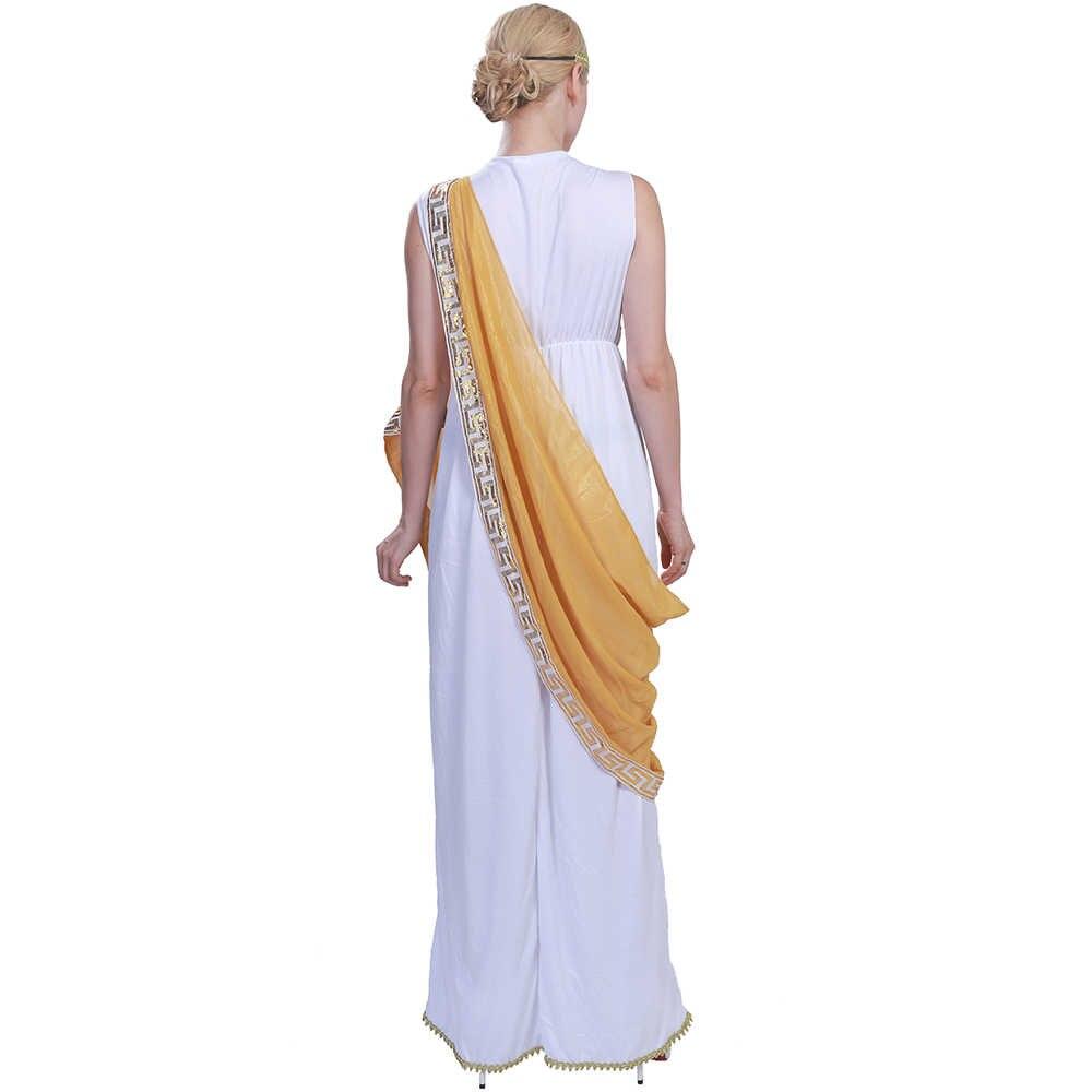 ffde57f43 Carnaval Medieval vestido de las mujeres trajes Sexy griego dama romana  Egipto Cleopatra traje indio vestido de diosa del Renacimiento Cosplay