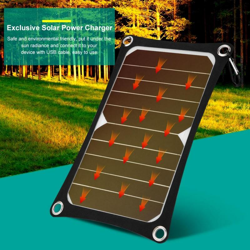 USB Solar Panel Mobile Power Charger IP9 Waterproof Portable 6W 3000mAh Outdoor