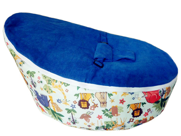 blue baby bean bag/ baby bed bag/ baby sleeping bag -