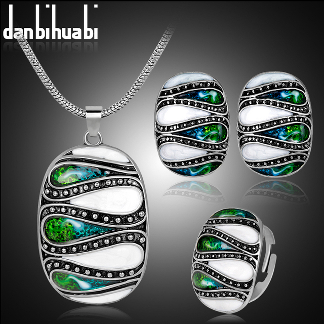 danbihuabi High Quality Women Costume Wedding Jewelry Set Earrings