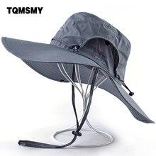 Chapéus de sol unissex para mulher aba larga pescador boné caminhadas acampamento gorros ao ar livre à prova dwaterproof água tecido chapéu anti-uv balde bonés
