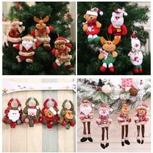 Подвески для рождественских украшений, игрушка для улицы, рождественская елка, подвесное украшение, Санта Клаус, снеговик, медведь, лось, кукла для домашнего декора, детский подарок