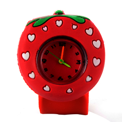 Cindiry girl watch cartoon watch strawberry lovely fashion student cute wristwatch red silicone band children watches.jpg 250x250