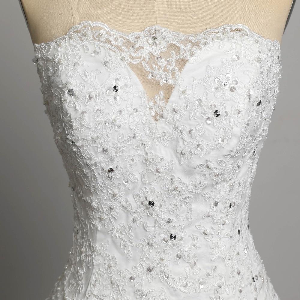 Sexig Stroplös Beading Snörning Vestidos De Novia Off Shoulder - Bröllopsklänningar - Foto 5