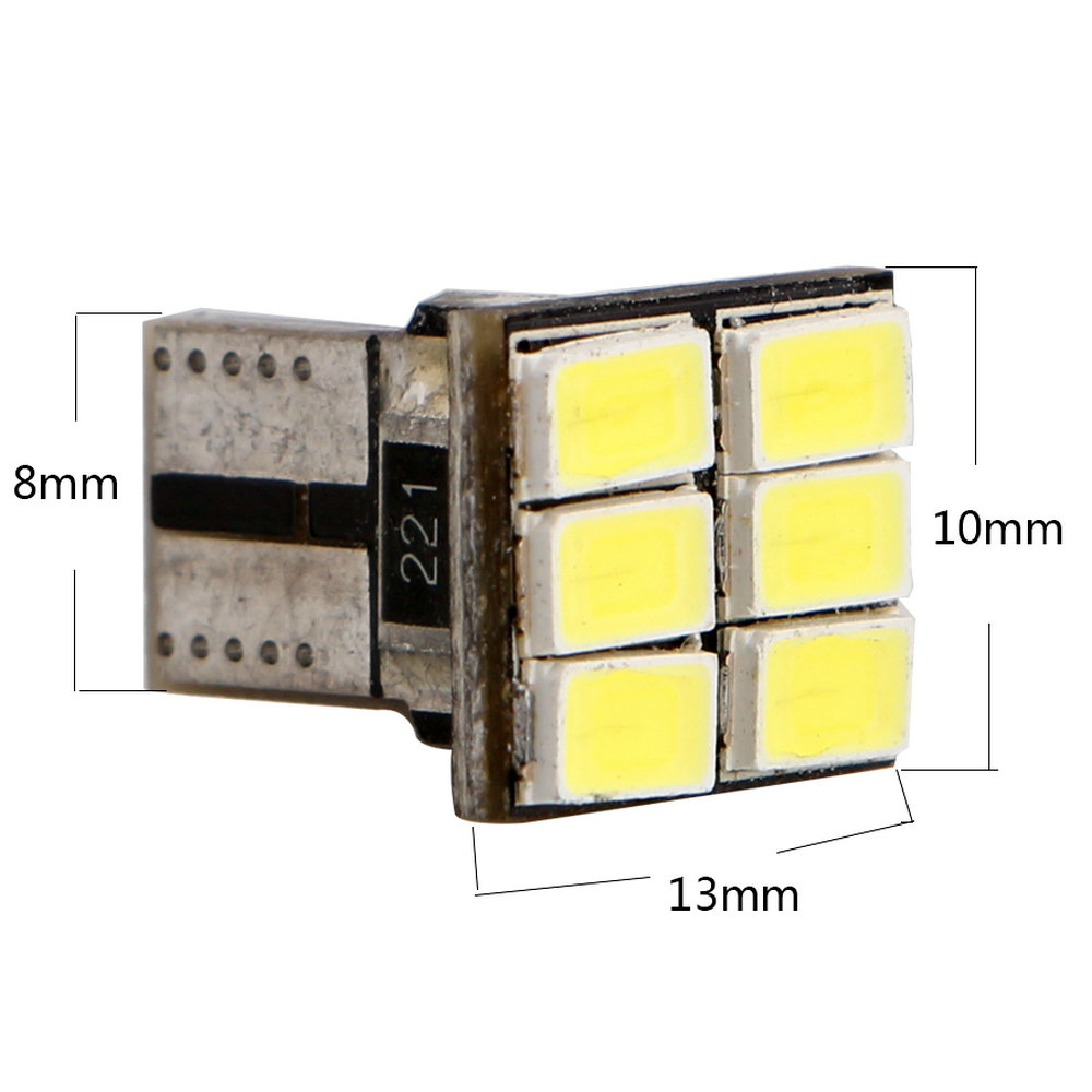 Ym E-bright 10-300x T10 W5w Canbus 5730 6smd No Error Led Instrument Lights Reading Lamps License Plate Ckearance Lights 6500k Car Lights