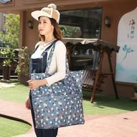 Fashion Waterproof Large capacity Folding Shopping Bag Portable Big Reusable Shopping Bag Women Eco Friendly