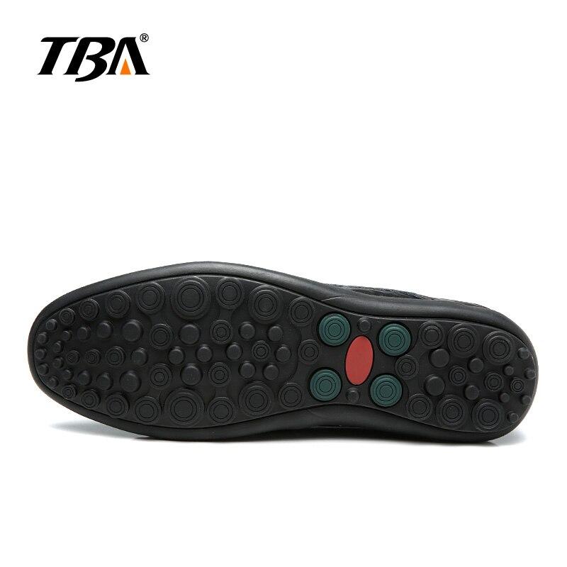 2019 TBA мужская кожаная обувь без шнуровки Мужская Уличная прогулочная обувь мужские черные туфли из PU искусственной кожи высокого качества б... - 5