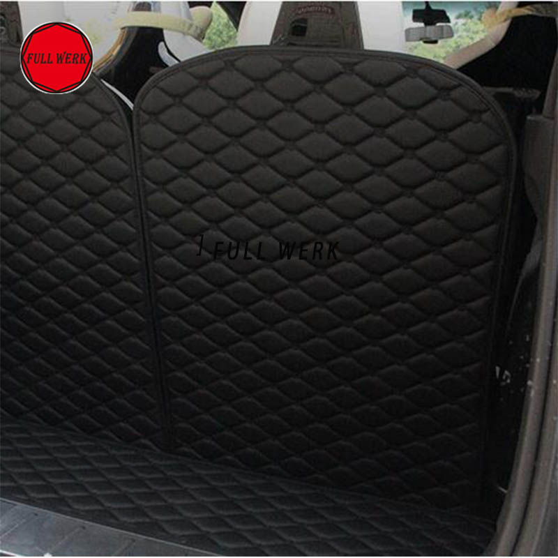 Car 3rd Row Back Seat Protector Mat Back Cushion Pad for Tesla Model X SUV 6 Seat 7 Seat Interior Accessories (2 pcs of Set) - 2