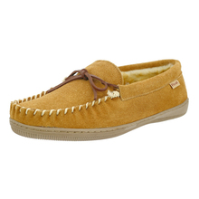 цена на Pamir Mens Genuine Suede Lined Slip on Moccasin Slippers Memory Foam Indoor Outdoor Winter Casual loafer Shoes US Big size