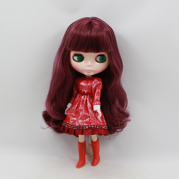 Nude Factory Middle Blyth doll Series No.12532 Wine red