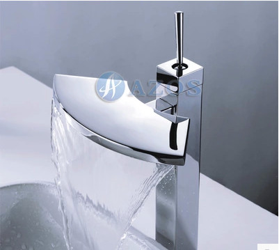 Bathroom full copper bass table basin wash waterfall faucet Chrome Finished hot and cold banheiro torneira robinet salle de bain