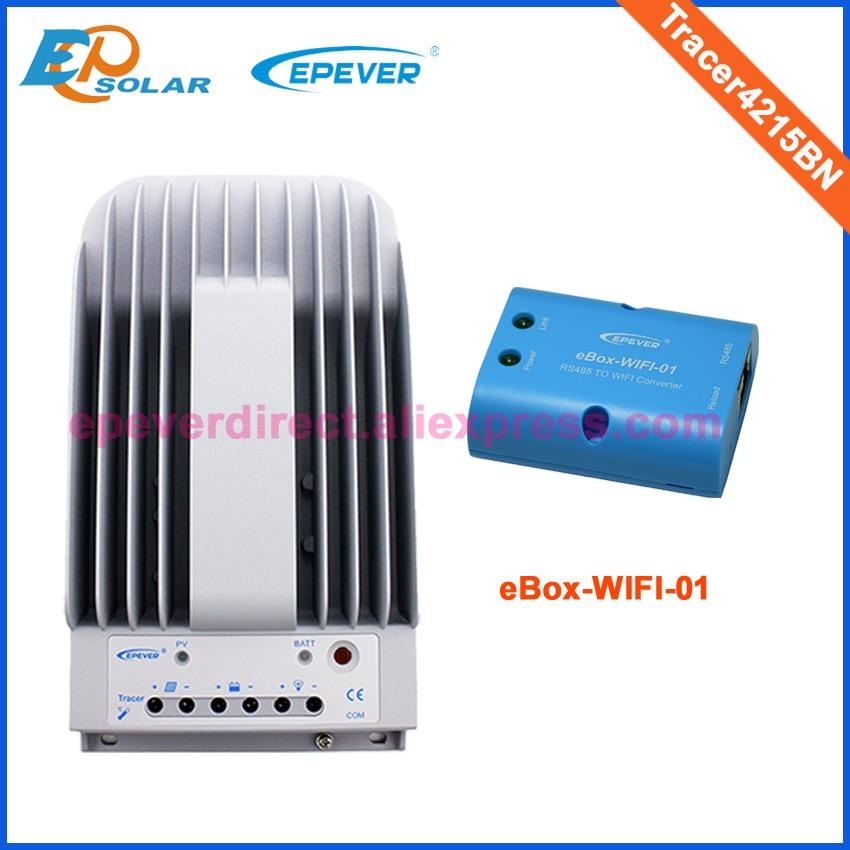 24 V solaire chargeur de batterie chargeur wifi eBOX Android application de téléphone EPEVER EPsolar Tracer4215BN 40A
