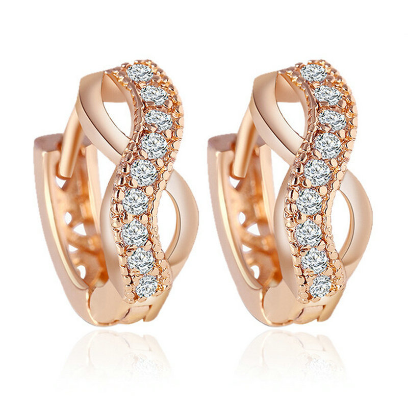 New Arrival Crystal Gold Color Wedding Earrings Fashion Hot Sale ...