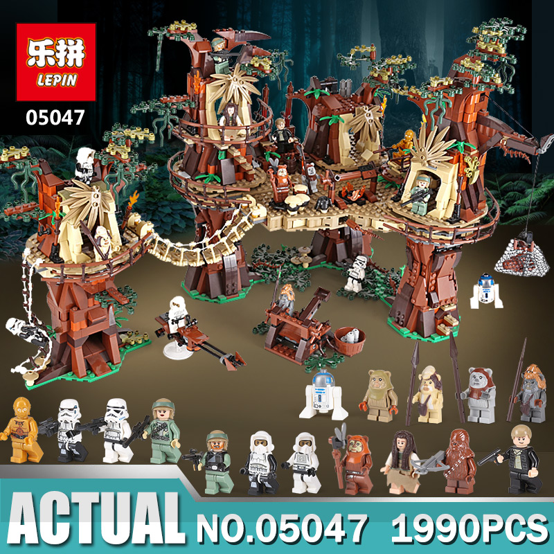 Lepin Star War 1990pcs 05047 Ewok Village Building Blocks Juguete Para Construir Bricks Toys for childfen with LegoINGly 10236