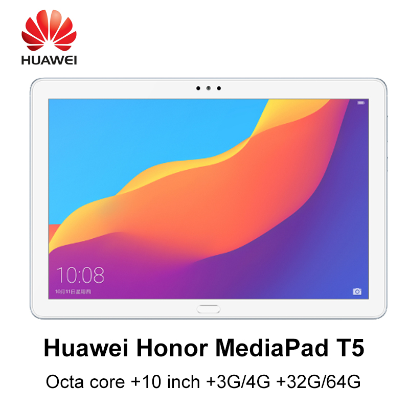 Huawei MediaPad T5 huawei honour T5 Kirin 659 Octa core 10 pouces 3G/4G RAM 32G/64G ROM wifi/LTE version 5100 mAh tablette android