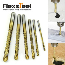 6 Pieces/Set Titanium Coated HSS Saw Drills Bit Set 3/4/5/6/6.5/8MM Woodworking Wood Metal Plastic Cutting Hole Holesaw