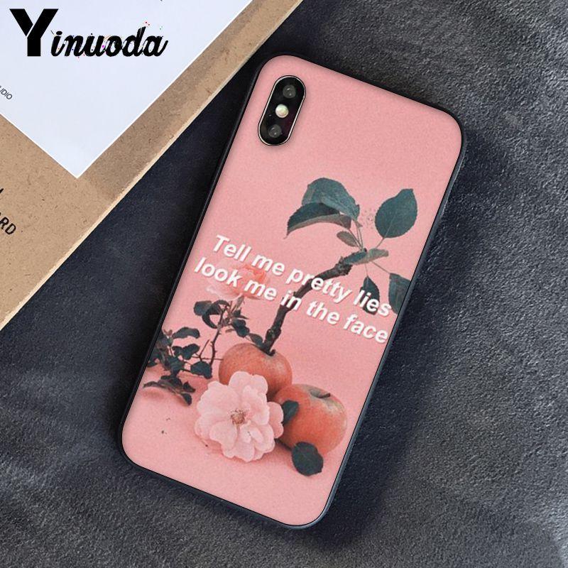 Yinuoda, розовый, эстетический, песни, лирика, эстетический, мягкий силиконовый чехол для телефона, чехол для iPhone 8, 7, 6, 6 S, 6 Plus, X, XS, MAX, 5, 5S, SE, XR, 10 - Цвет: A12