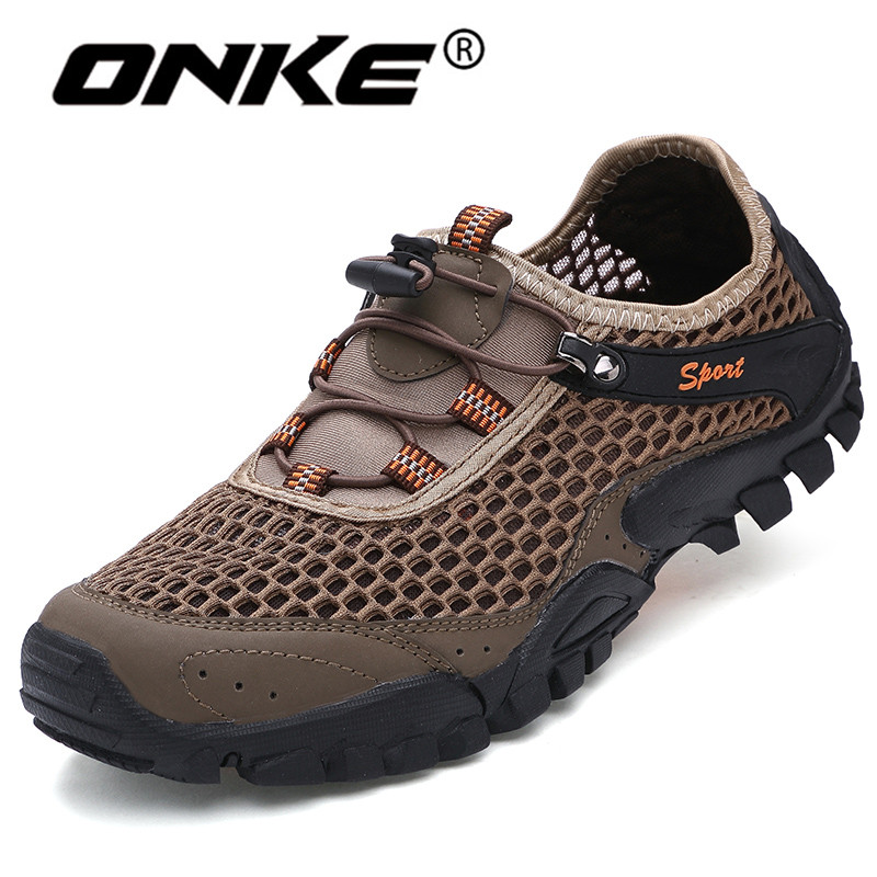 Onke Summer Men Sneakers Breathable Road Running Shoes Anti-Skid Outdoor Trainers Male Sport Shoes Comfortable Walking Shoe