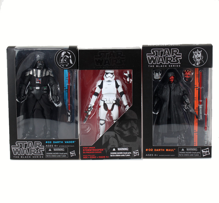 22CM Star Wars 7 Darth Vador Storm Trooper figure toy set 2016 New Force Awaken Darth Maul with lightsaber weapons for adults