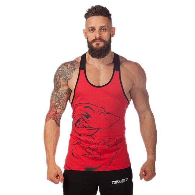 c1a653e896dac Gym Clothing Mens Gym Shark Tank Tops Stringer Bodybuilding Equipment Fitness  Men s GYM Tanks Clothes Gymshark Free Shiping