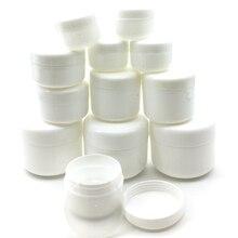 30 шт 10 г/20 г/30 г/50 г/100 г пустая банка для макияжа горшок многоразовые пробные бутылки дорожный крем-лосьон для лица косметический контейнер белый
