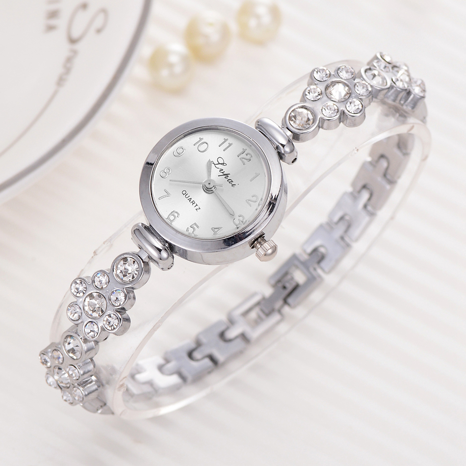 Lvpai Bracelet Watch For Women Ladies Fashion Quartz-watch Female Imitation Diamond Wristwatch Watches For Women Female Watch