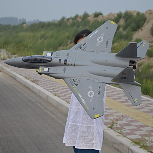 F15 EPO RC Eagle Hawk type light fighter fighter Airplane 1.1M Huge Size Remote Control Shockproof 2.4G 4CH Plane Gray Color image