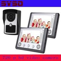 Sysd 7 Цвет видео телефон двери Видеодомофоны Домофон ИК Ночное видение Камера Дверные звонки комплект видео для дома квартира 1 2