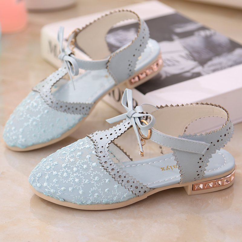 ULKNN New Arrive Kids shoes fashion bow-tie and lace sandals childrens casual Summer flats ankle-wrap shoes girls single shoeULKNN New Arrive Kids shoes fashion bow-tie and lace sandals childrens casual Summer flats ankle-wrap shoes girls single shoe