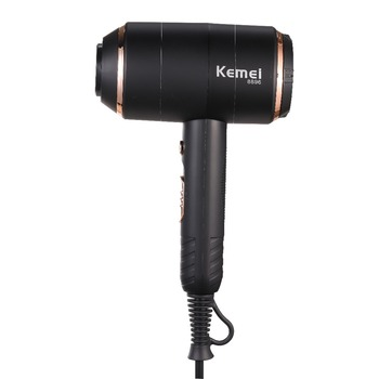 Kemei Powerful Electric Hair Dryer with Overheat Protection System New Hair Drying Machine No Hair Injury Water Ions Hair Blower