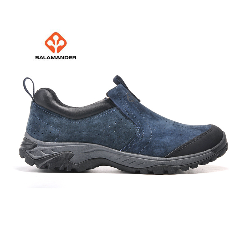 SALAMANDER Men's Leather Outdoor Hiking Trekking Sneakers Shoes For Men Sport Trail Climbing Mountain Shoes Sneaker Man humtto new hiking shoes men outdoor mountain climbing trekking shoes fur strong grip rubber sole male sneakers plus size