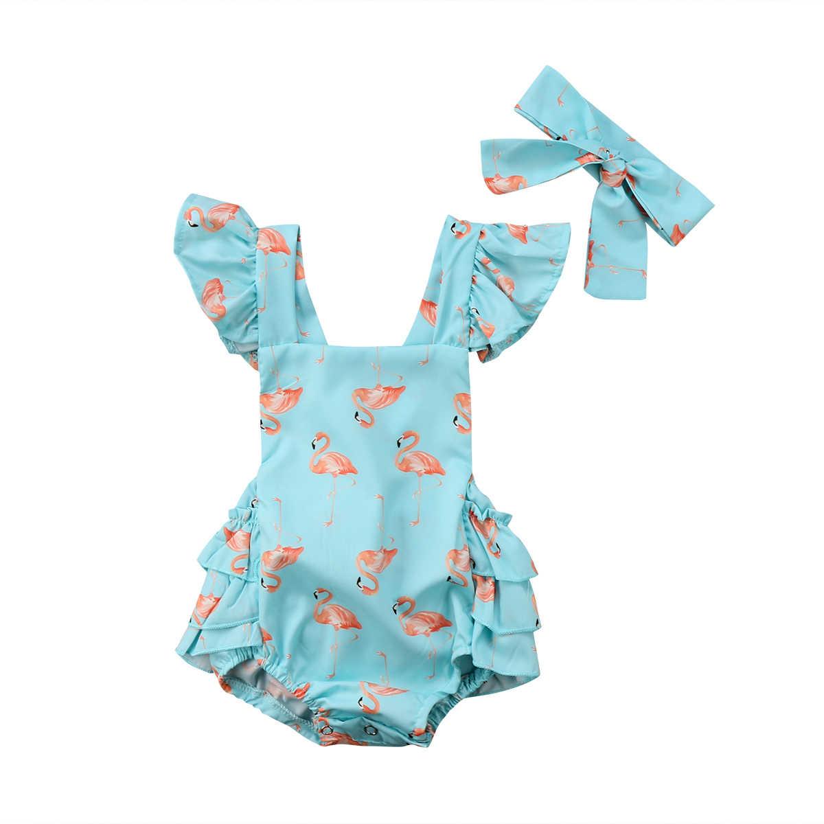 Хлопковое боди с цветочным рисунком для новорожденных девочек комбинезон без