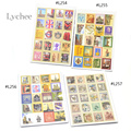1 Set 80pcs European Style Paper Crafts Deco Craft Stamp Stickers Diary Sticker Scrapbooking