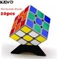 10 unids KAWO de Alta Calidad 3D Puzzle/Cubos Mágicos Destaca Soporte 7 Colores Eligen