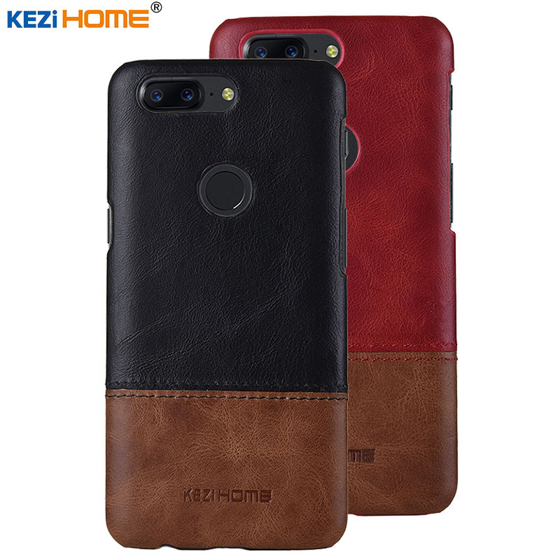Case for OnePlus 5T KEZiHOME Luxury Hit Color Genuine Leather Hard Back Cover capa For OnePlus 5T 5 T 6.01 Phone cases