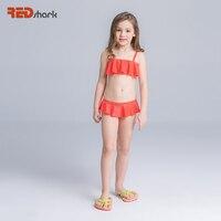 REDshark 2017 Najnowsze Bikini Swimsuit Stroje Kąpielowe Cute Girl Dzieci Nosić Spódnicę Sexy Bikini Strój Kąpielowy Sportowy Kostium Kąpielowy Strój Kąpielowy