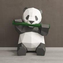 3 типа бумажная модель панда игрушки 3D DIY материал ручной работы творческие вечерние реквизиты для шоу прекрасный приливный Декор панда изображение подарок