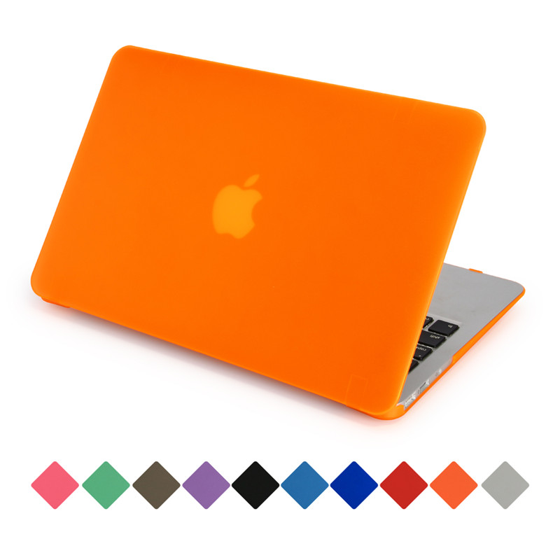 for macbook air 13 inch cover matte transparent hard plastic case for macbook air pro retina 11 12 13 15 can see logo