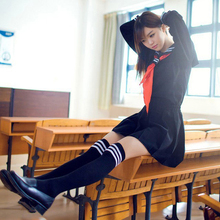 BOOCRE Japanese/Korean Anime Hell Girl Cosplay Costume School Uniforms Clothes Cute Girl Sailor Suit JK Student TOP +Dress+Tie japanese school uniforms anime cos sailor suit tops bow tie skirt jk navy style students clothes for girl short sleeve