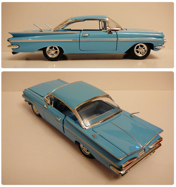 1:32 simulation vintage 1959 Chevy Impala model car Chevrolet Impala ...